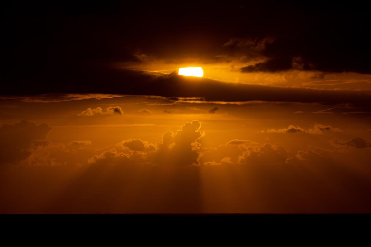 カリブの海の夕暮れ