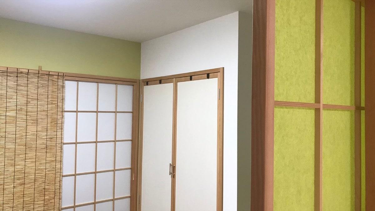 緑を基調とした和室