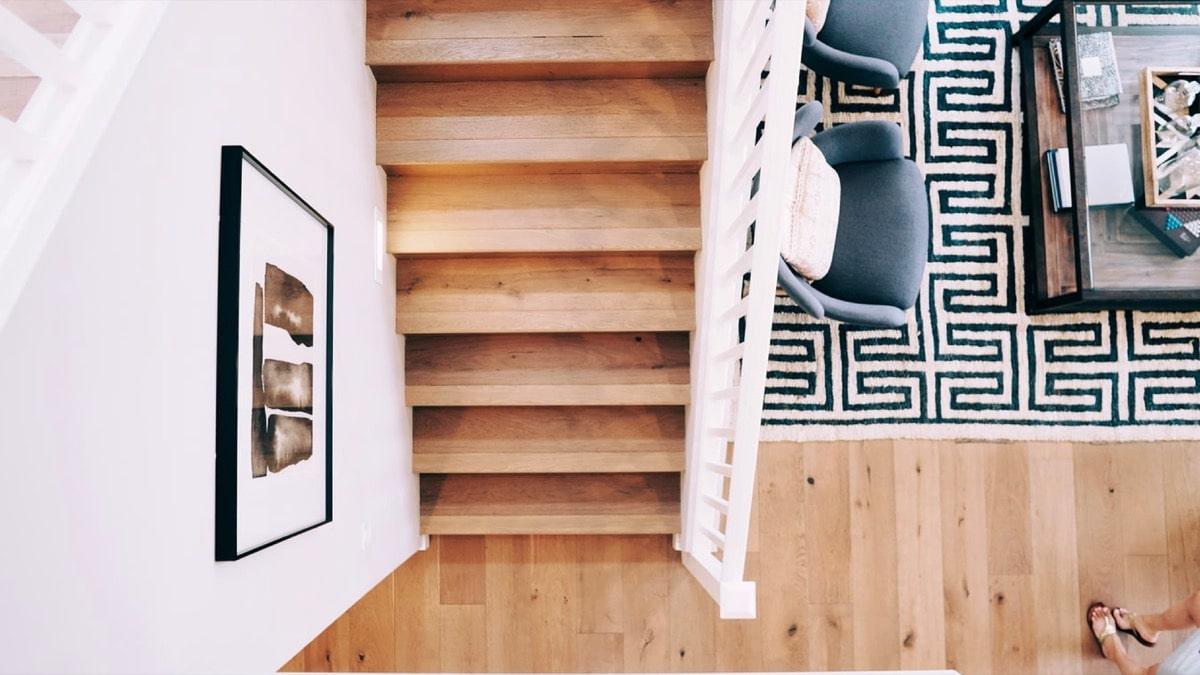 拡大されたリビング階段